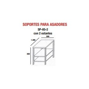 Soporte para asador de pollos AV-15-P, modelo SP-85-2
