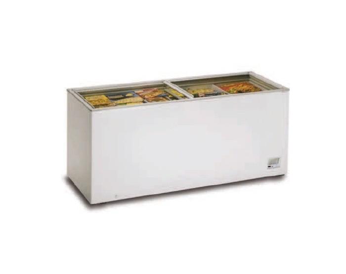 Congelador con tapa cristal 1800mm 550-C ventilado