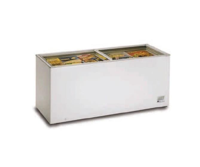 Congelador con tapa cristal 800cm 210-C