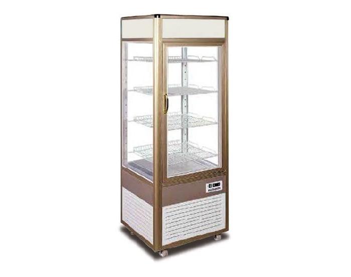 Armario Expos. Refrigerado 4 caras cristal AEC-4 ORO