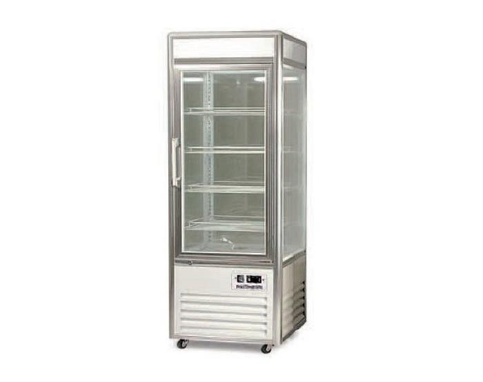 Armario Expos. Refrigerado 4 caras cristal AEC-4 PLATA