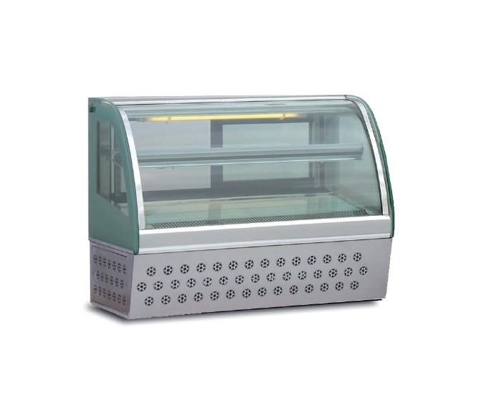 Vitrina pastelera inoxidable, modelo VPM-1500.