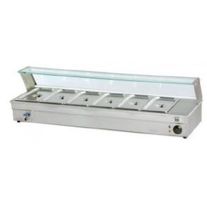 Calentador de tapas 6 bandejas, modelo CP6-Inox