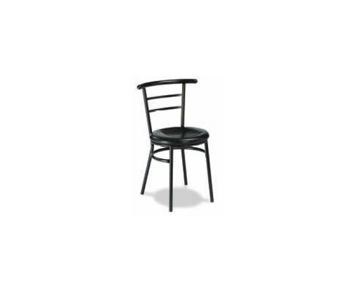 Silla M101 acero plasticifado, asiento skai ignífugo