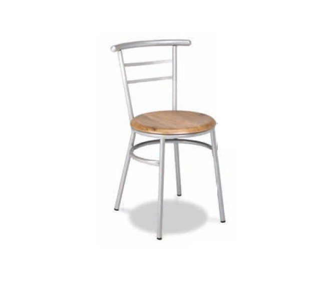 Silla M101 acero plasticifado, asiento espuma