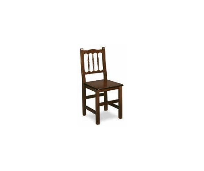 Silla M10, estructura de madera, asiento de  Enea