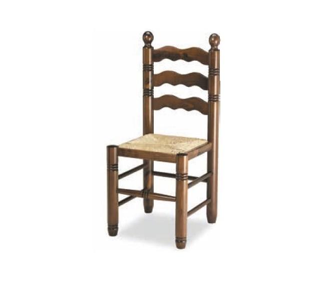 Silla M10, estructura de madera, asiento de Cuero sintético.