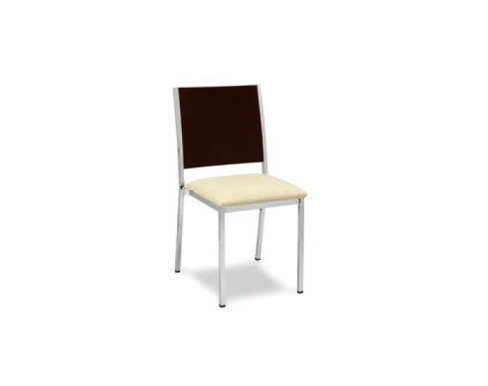 Silla modelo M138 estructura acero plastificada, asiento skai