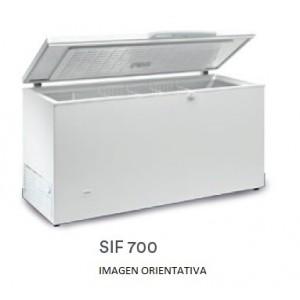 CONGELADOR TAPA EN ACERO INOX ABATIBLE EUROFRED SIF700 INOX